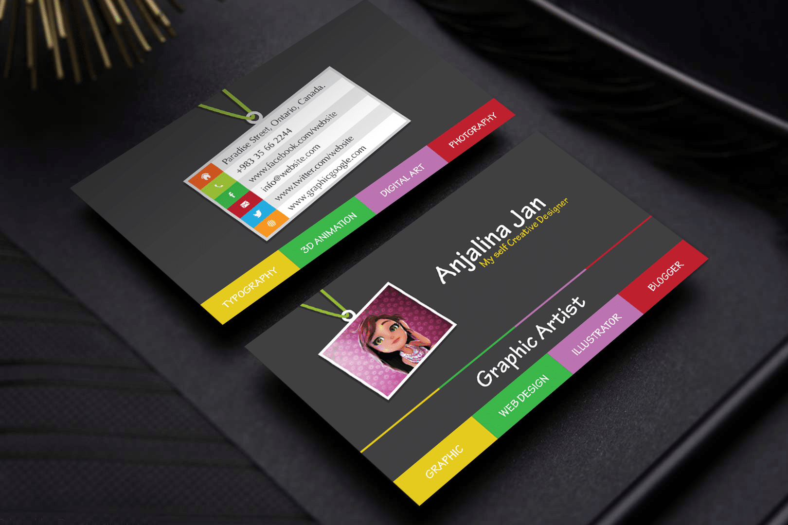 Graphic Artist Business Card Template Design