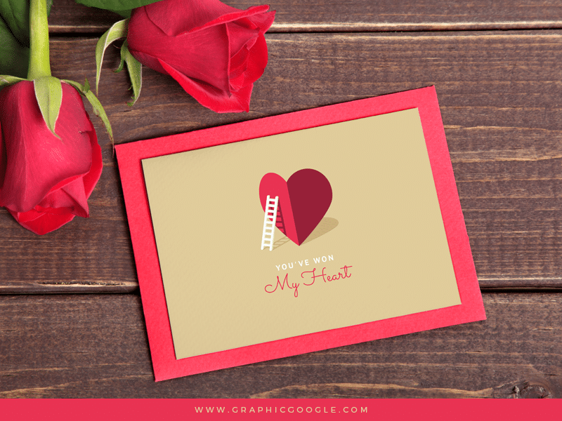 My Heart Valentine Card Template For Lovers