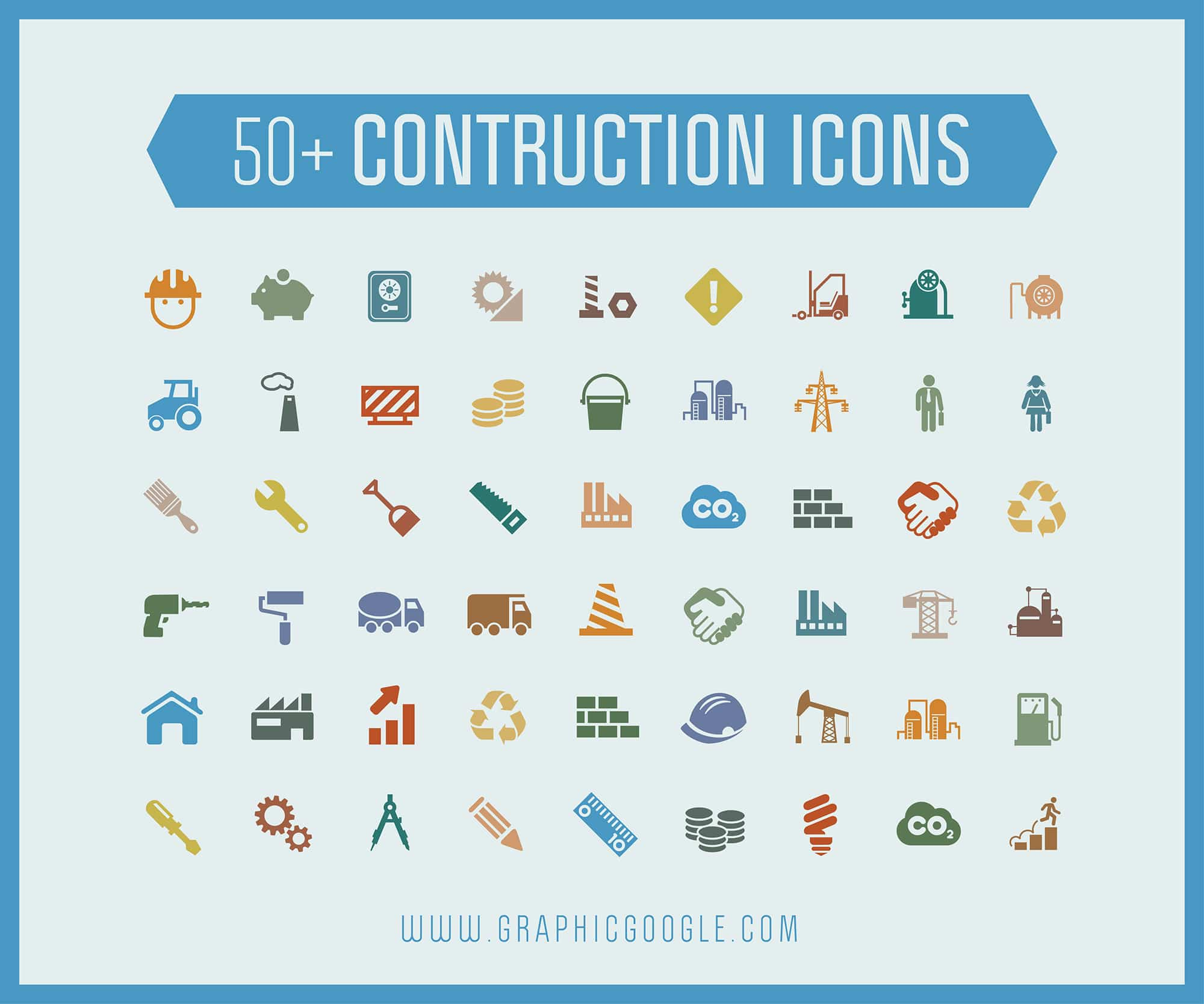 50+ Free Construction Icons