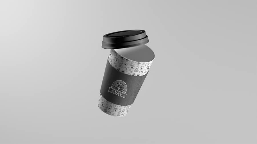 Floating Coffee Cup Mockup