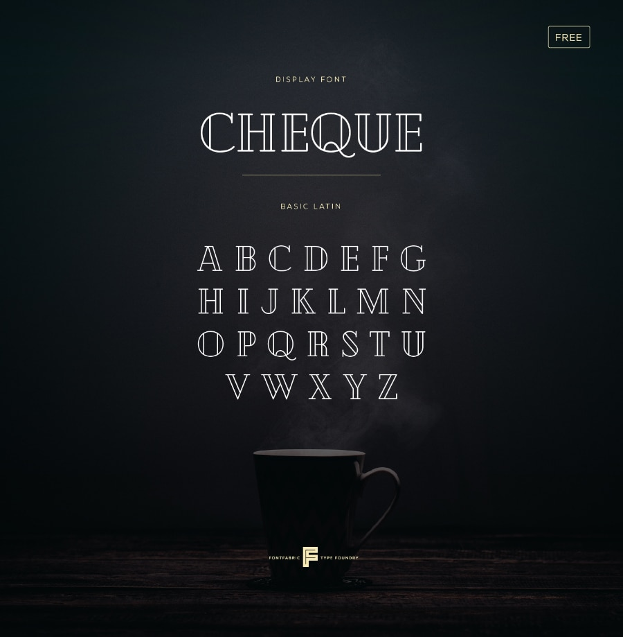 Cheque Font For Design
