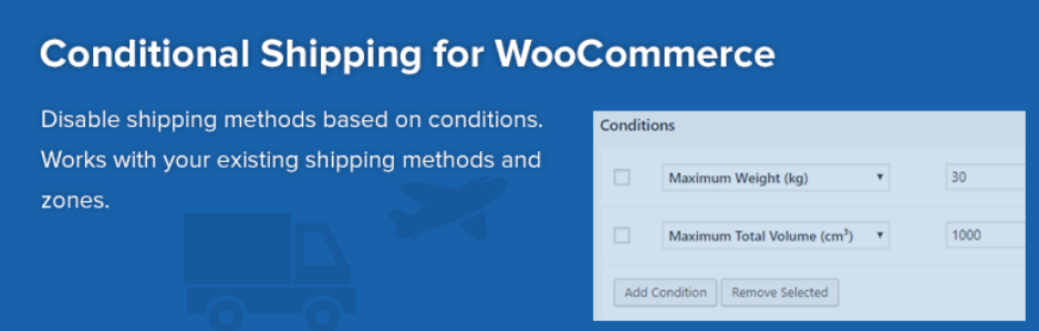 Conditional Shipping for WooCommerce - free shipping Woocommerce plugin