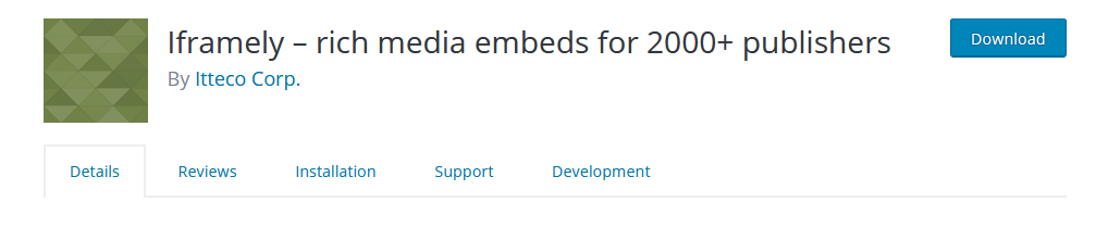 Iframely – rich media embeds for 2000+ publishers