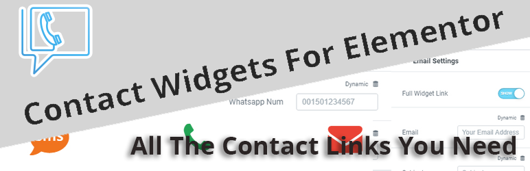 Contact Widgets For Elementor all the contact links you need in one place