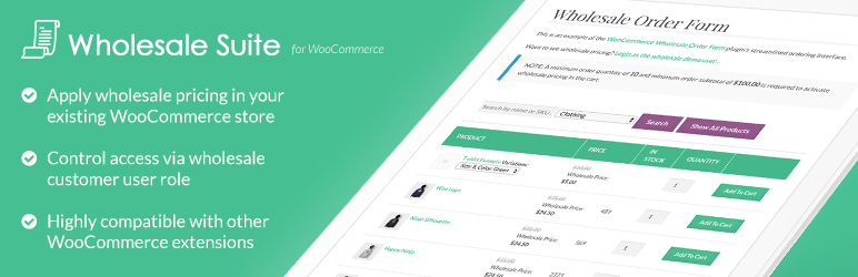 Wholesale Prices for WooCommerce by Wholesale Suite