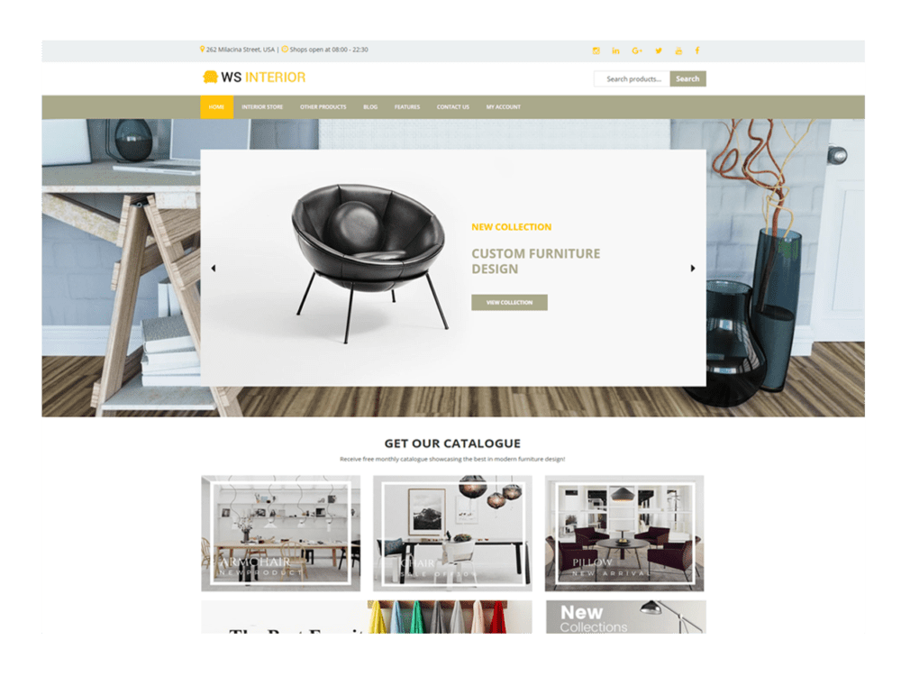 WS Interior – Free Interior Design Wordpress theme - WooSkins