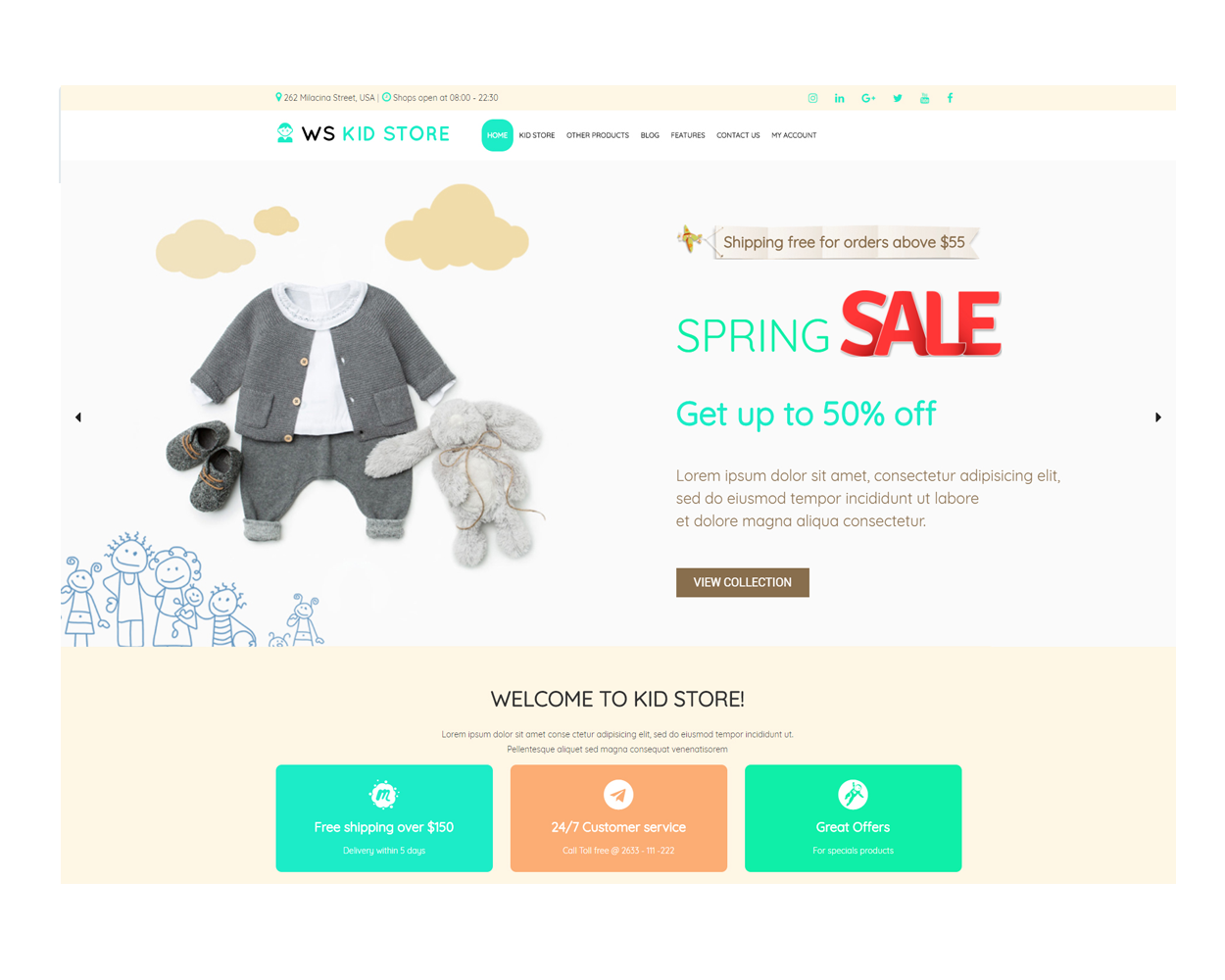 Ws Kid Free Responsive Kids Children Store Woocommerce Wordpress