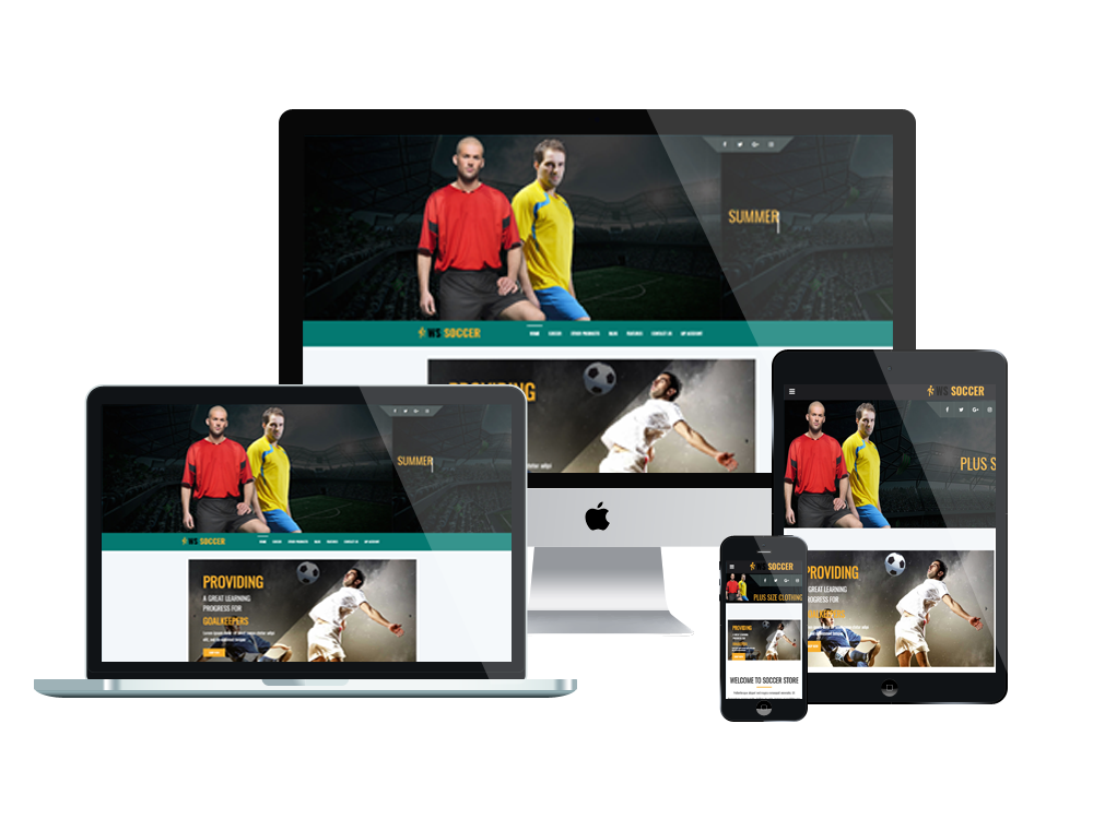 WS Soccer – Free Responsive Sport Clubs WooCommerce Wordpress theme ...