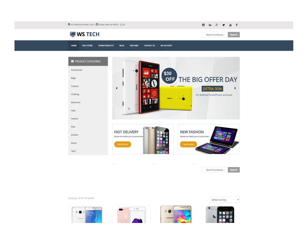 Ws Tech Free Responsive Hi Tech Store Woocommerce Wordpress Theme