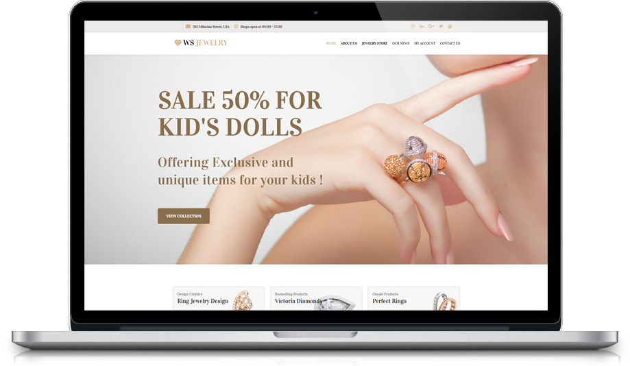 Ws Jewelry Free Responsive Diamond Store Woocommerce Wordpress Theme Wooskins