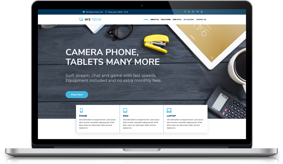 ws-tech-free-responsive-wordpress-theme-elementor
